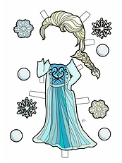 SNOW  PRINCESS COLORED