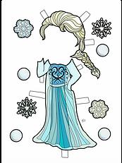 SNOW  PRINCESS COLORED