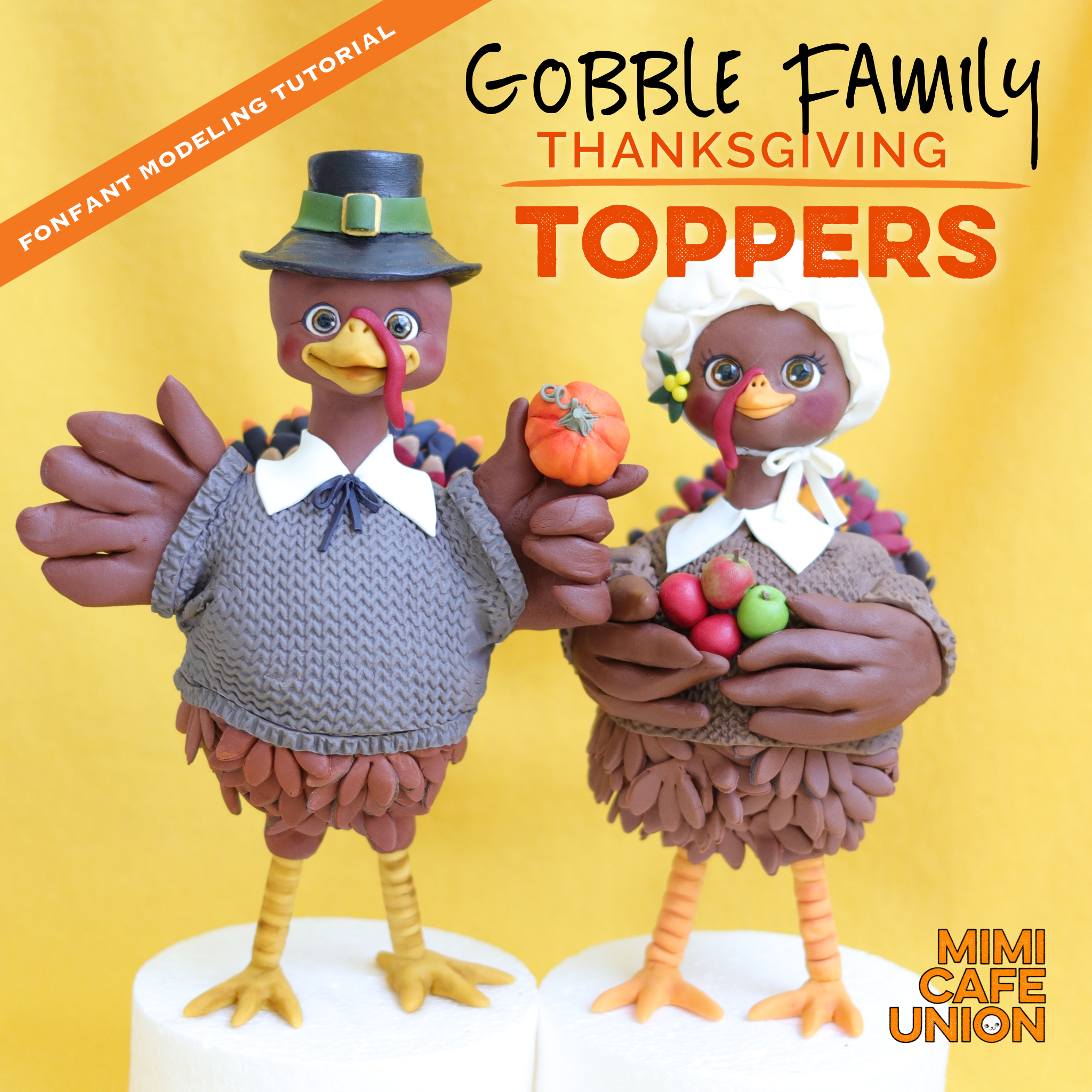 GOBBLE FAMILY THANKSGIVING TOPPERS