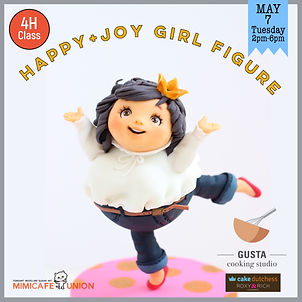 Happy + Joy Girl Figure