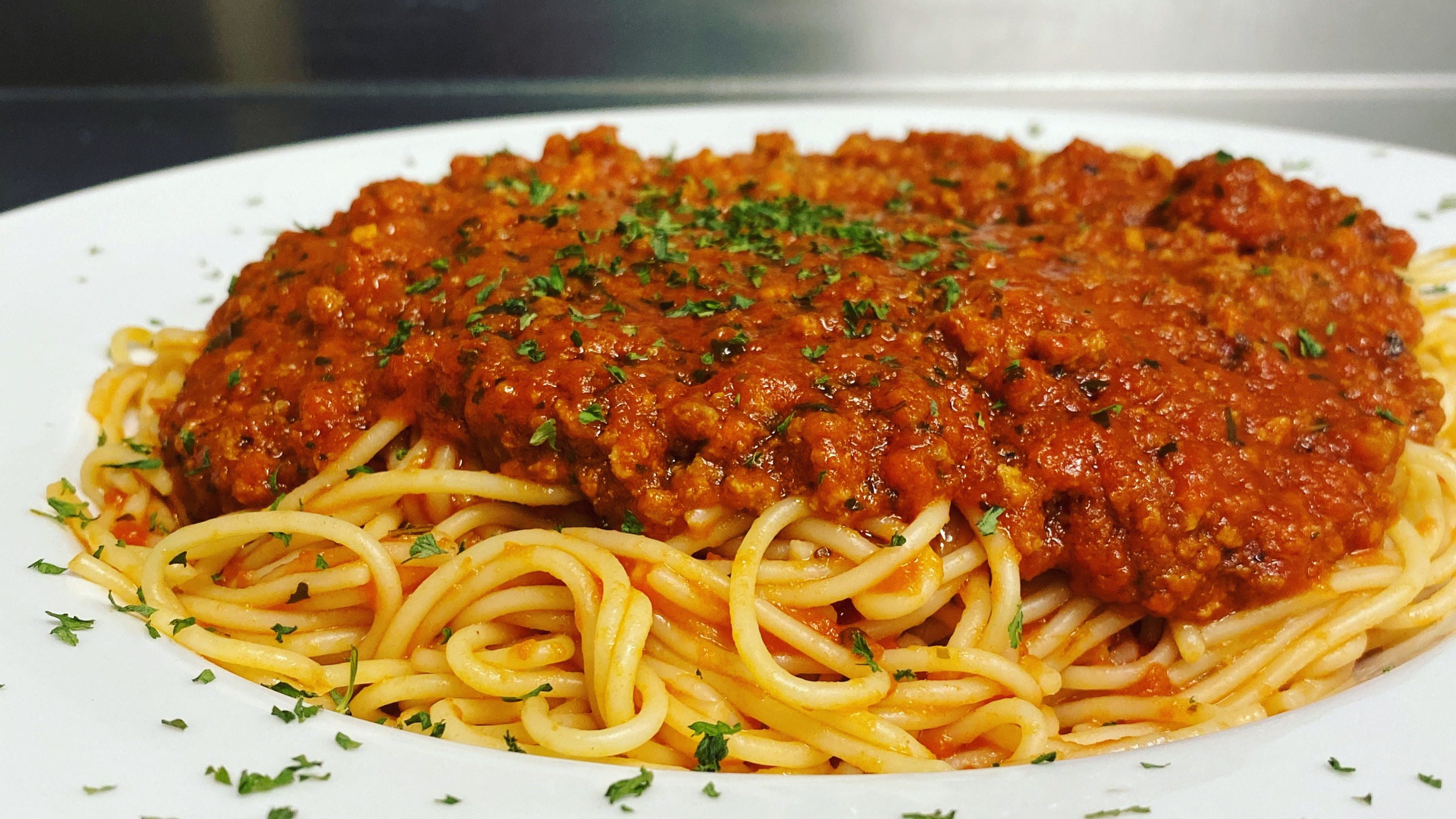 Spaghettini with meatsauce