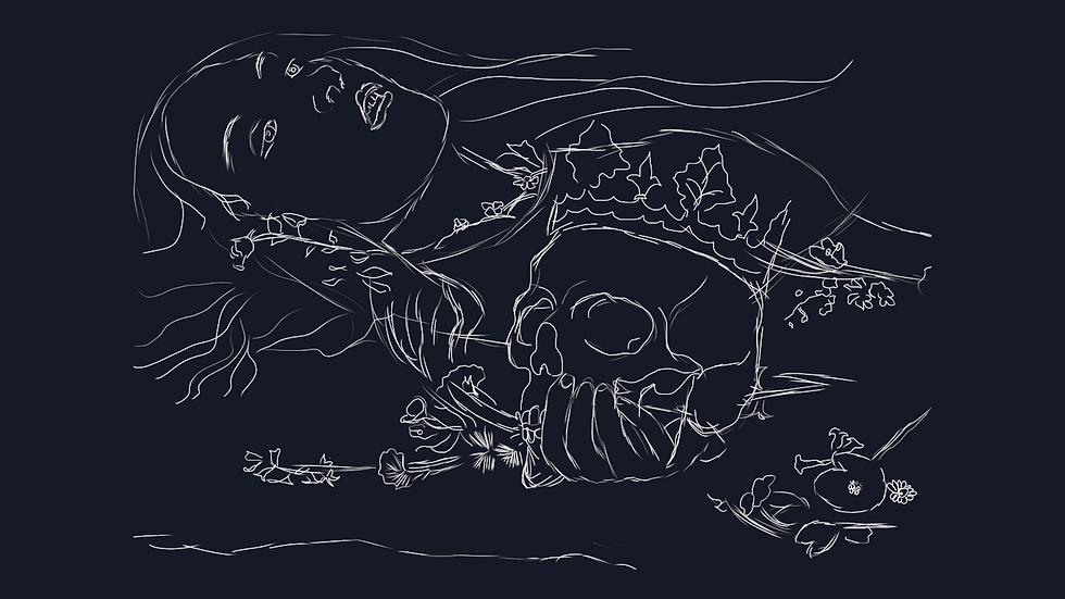 Ophelia (Illustration by Ellie Kavanagh)