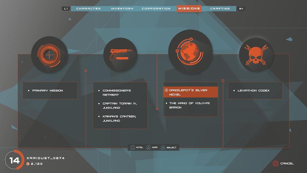 Mission UI design