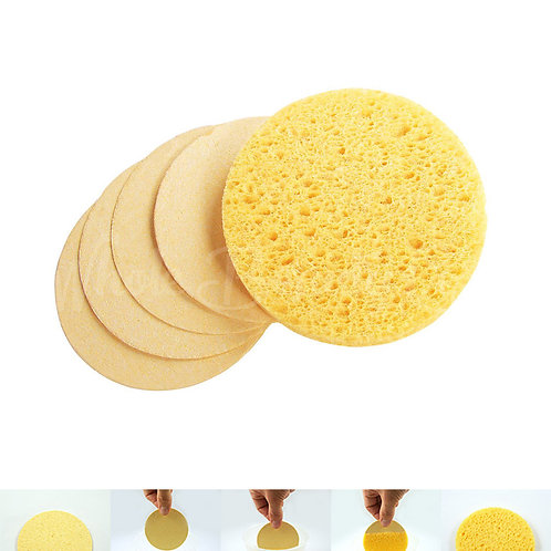 Natural Cellulose Facial Sponges 50/Pk Yellow