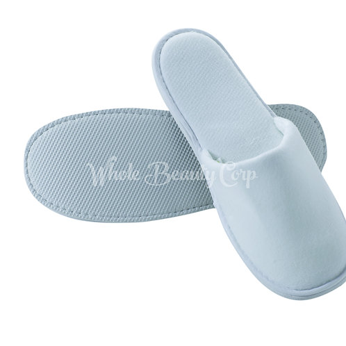 Men's Cotton Velvet Slipper Close Toe