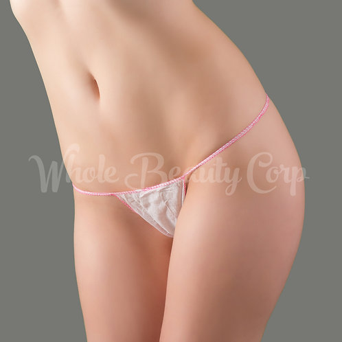 Ladies Thong Panties w/Cotton Crotch