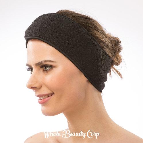 Stretchable Terry Spa Headband Black