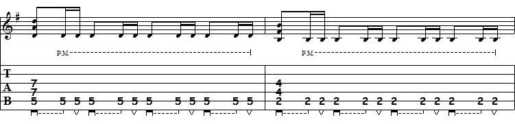 guitarra ritmica heavy metal galope no estilo iron maiden