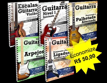 Pacote com todos os Métodos de Guitarra [e-books + vídeos + grupo + suporte]