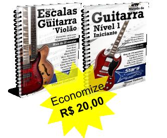 Pacote Guitarra Iniciante + Guia de Escalas [e-books + vídeos + grupo + suporte]