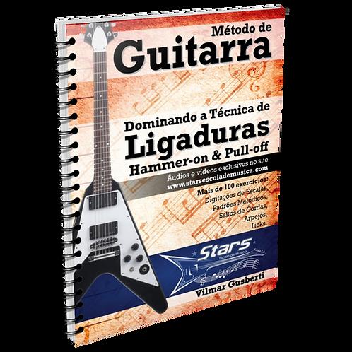 apostila e-book metodo de guitarra dominando a tecnica de ligaduras