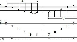 Estudo no Campo Harmonico de Ré Maior (D) em 5 cordas