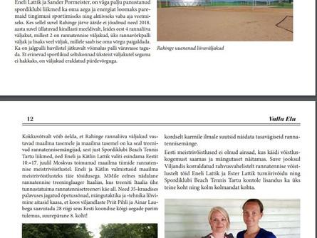 SK Beach Tennis Tartu tegi kokkuvõtte oma suvest Valla Elu lehte!