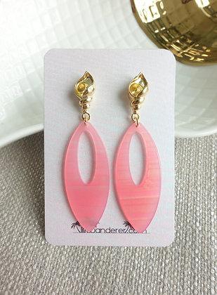 Summery Earrings in Flamingo