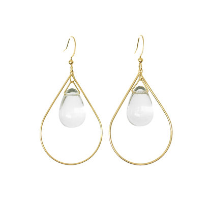 Teardrop earrings in Clear