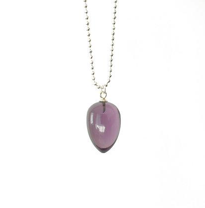Pendulum pendant necklace in Purple