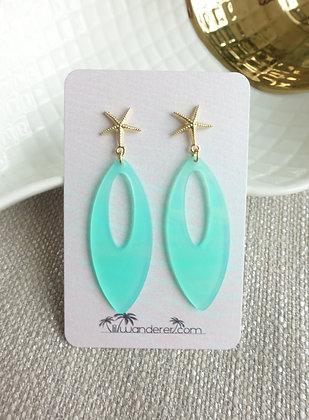 Summery Earrings in Aqua