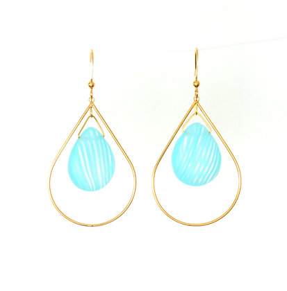 Teardrop earrings in Frosted Light Blue