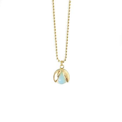Dainty ladybug wings Opalite necklace