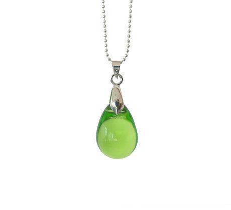 Teardrop pendant necklace in Fresh Green