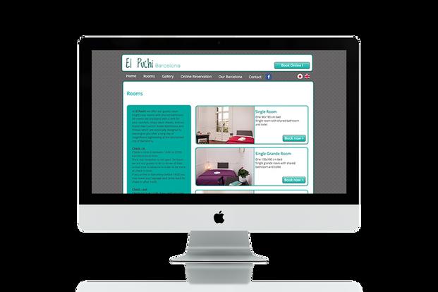 אתר תדמיתי למלון בברצלונה כולל מערכת הזמנות