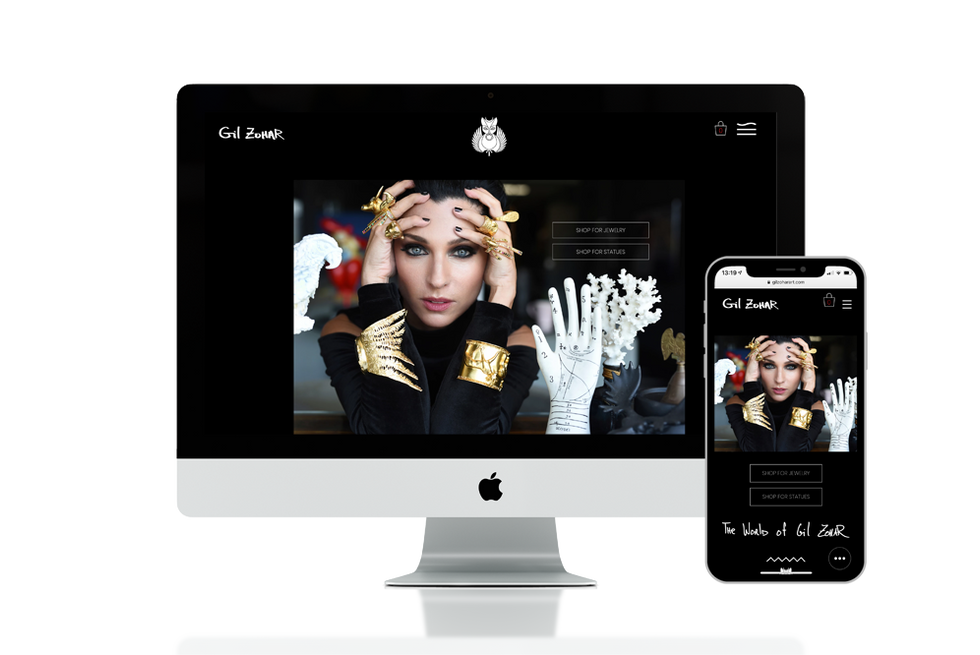 חנות Online למעצבת תכשיטים בינלאומית