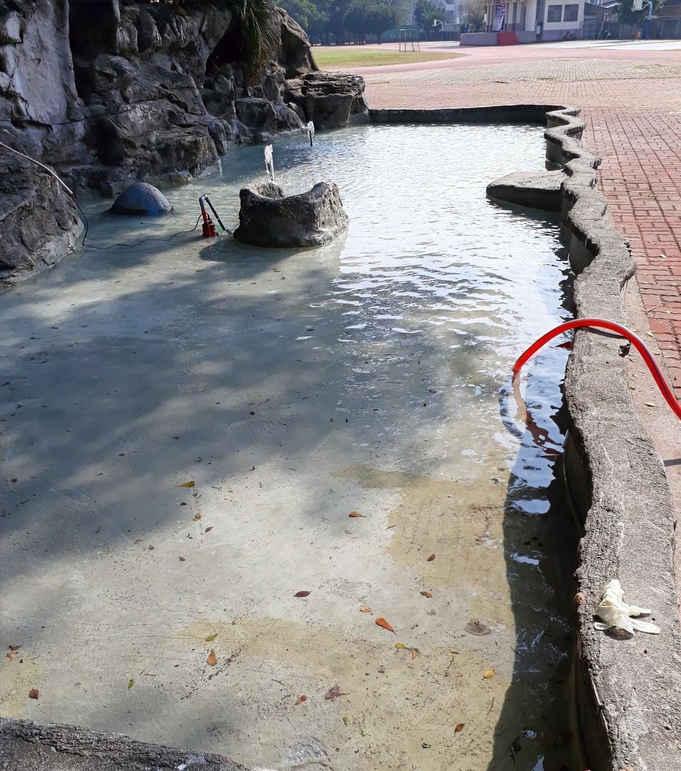 整修後放水測試