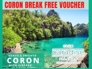 4 Days and 3 Nights Coron Package.