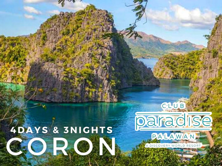 4 Days and 3 Nights Coron, Palawan Package.