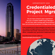 Credentialed Project Mgrs Needed