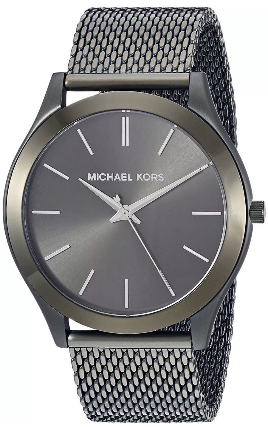 ae8e15f0f0c3 Michael Kors MK8608 Slim Runway Mesh Olive-Tone Men s Watch MSRP  195
