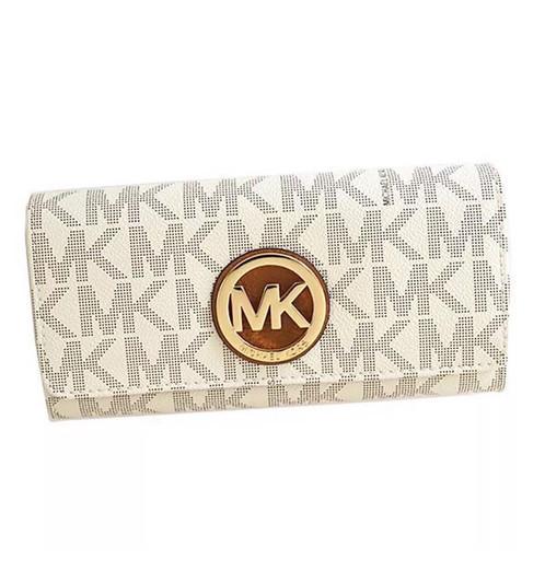 47d5a12de170 ... shopping nwt michael kors fulton flap continental wallet vanilla acorn  35t7gfte1b 58f8d b5e14