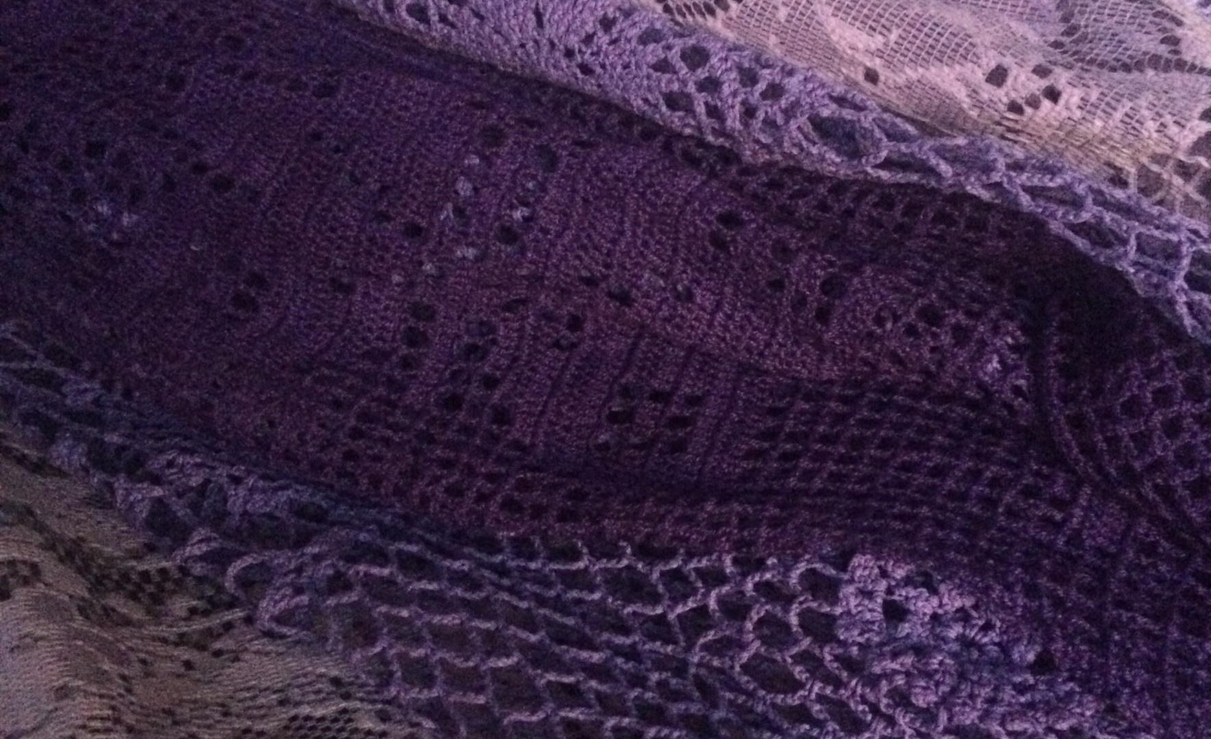 Hand dyed lace in progress