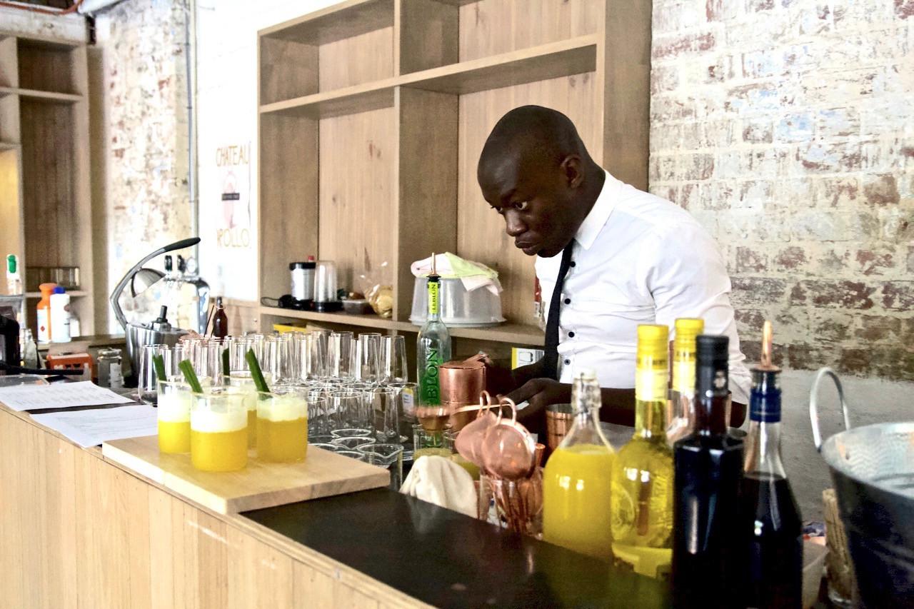 Samale making cocktails like a boss