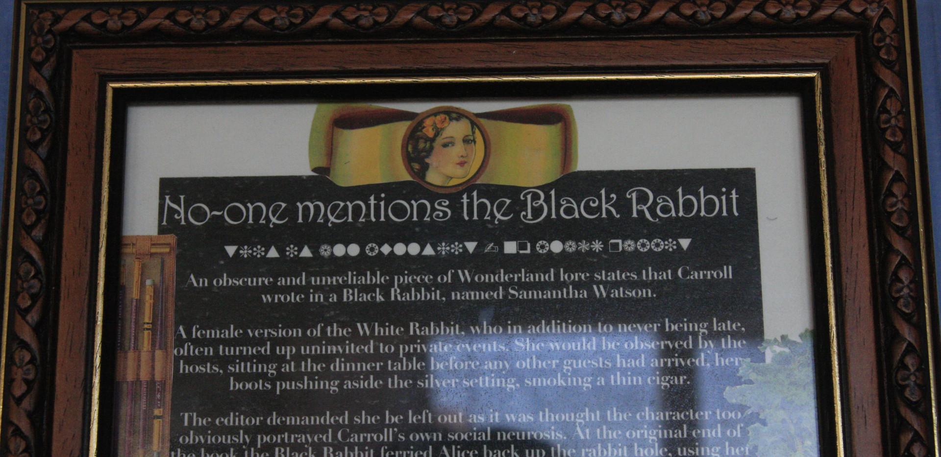 Close up of framed story
