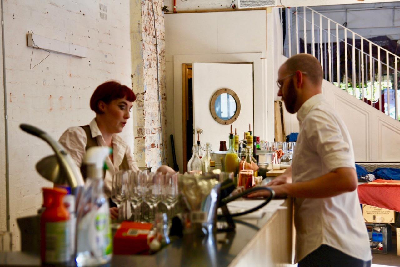 Olivia and Callan brewing