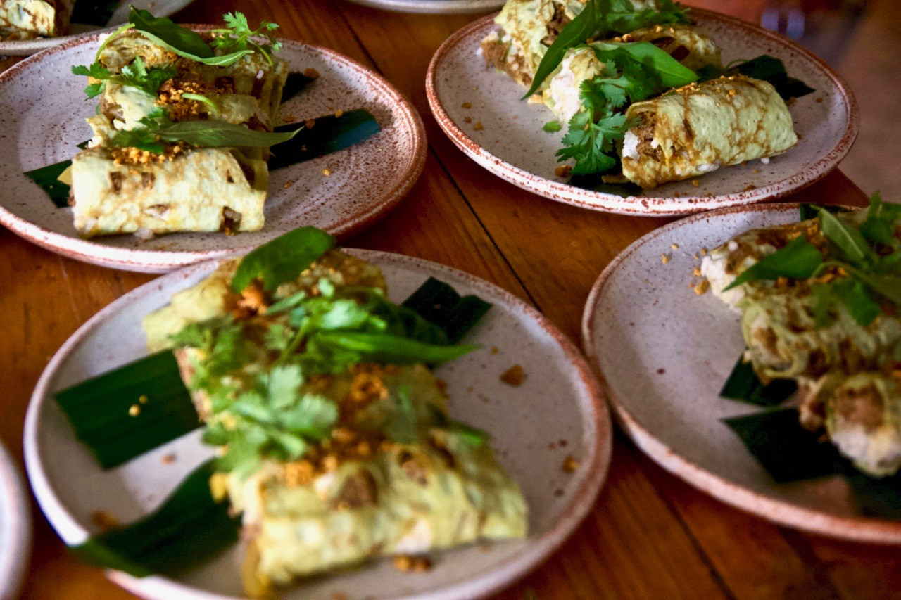 Amazing pandan pancakes for our trip to Indonesia