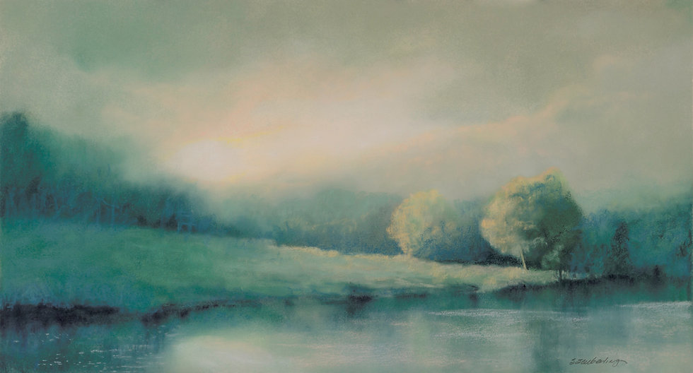 Dreaming_14x26_Framed at 24x36_pastel (3