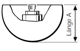 Sondertasteinsatz M2 Hohlhalbkugel