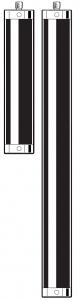 Tastereinsatz-Verlängerung M5 aus Aluminium