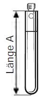 Zylindrischer Tastereinsatz M2 aus Hartmetall