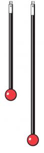 Tastereinsatz M3 mit Rubinkugel