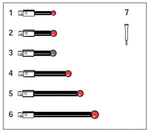 Tastereinsatz-Kit M3 für SP25M / SM25-1 / SH25-1