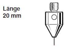 Tastereinsatz M5 mit Mini-Rubinkugel