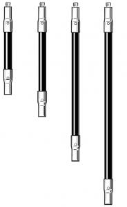 Tastereinsatz-Verlängerung M2 aus Kohlefaser