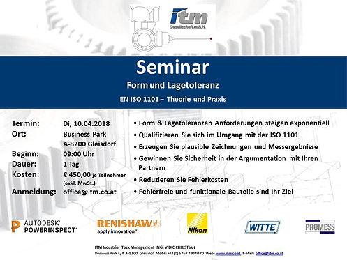 Seminar Form und Lagetoleranz (in Gleisdorf)