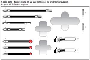 Tastereinsatz-Kit M2 aus Kohlefaser für erhöhte Genauigkeit