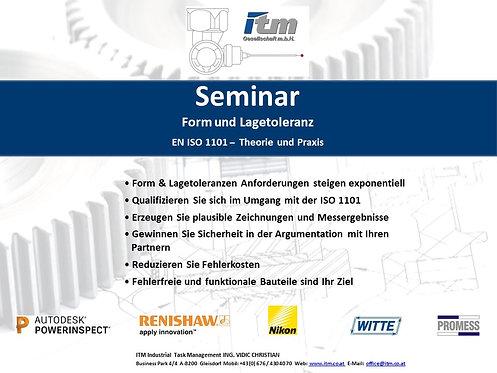 Seminar Form und Lagetoleranz (inHouse)