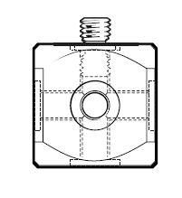 Würfel mit Schraube aus Titan