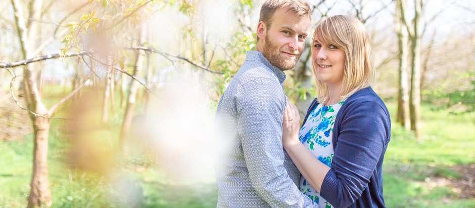 A Springtime engagement shoot at The Old Milking Parlour at Cavokay House